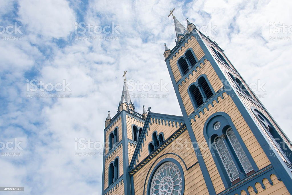 Saint Peter and Paul Cathedral in Paramaribo stock photo
