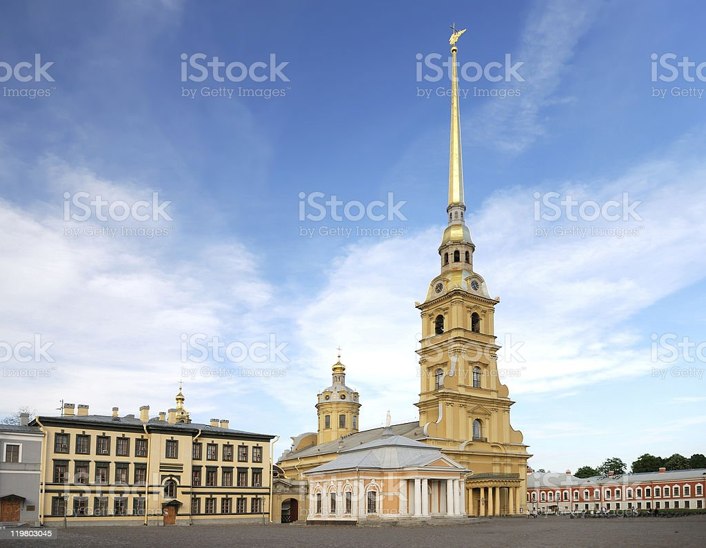 saint peter and paul cathedral (st petersburg) stock photo