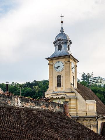Brasov/Romania - 06.28.2020: Saint Peter and Paul Church (Biserica Sfinii Apostoli Petru i Pavel) in Brasov, Romania.