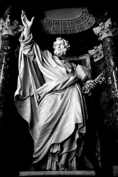 saint peter apostle - peter the apostle stock photos and pictures