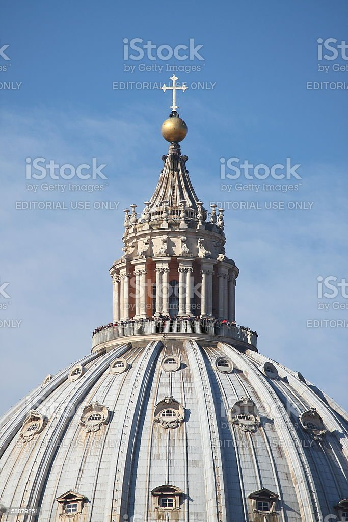 Saint Peter cathedral dome royalty-free stock photo