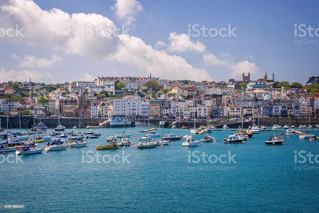 Saint Peter port, Guernsey stock photo