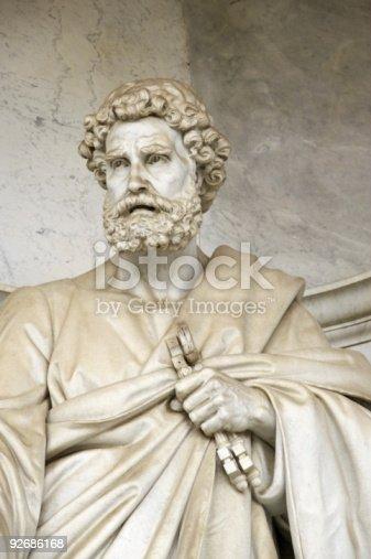 istock Saint Peter sculpture 92686168