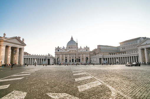 Saint Peter Square and Basilica in the Morning