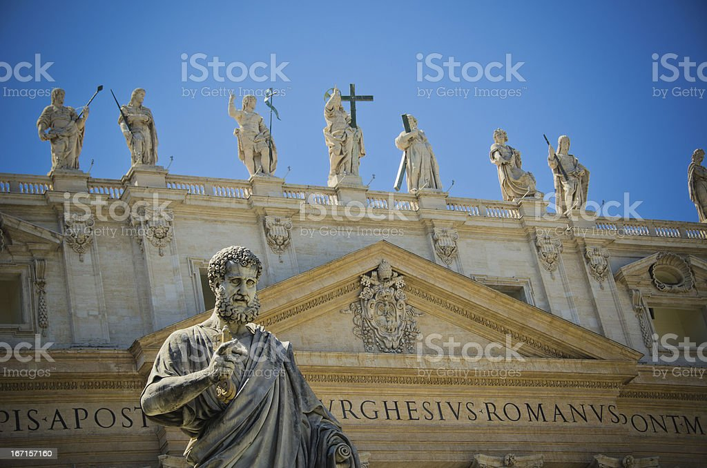 Saint Peter Statue in Vatican royalty-free stock photo