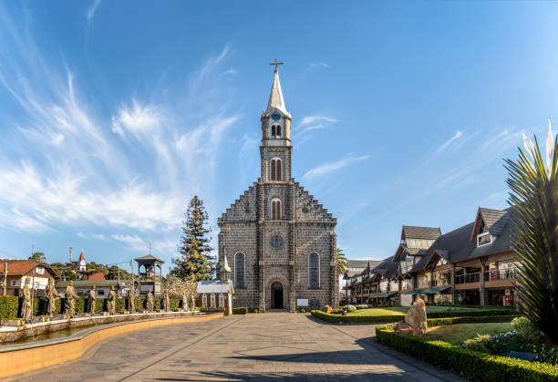igreja de saint peter stone - gramado, rio grande do sul, brasil - rio grande do sul - fotografias e filmes do acervo