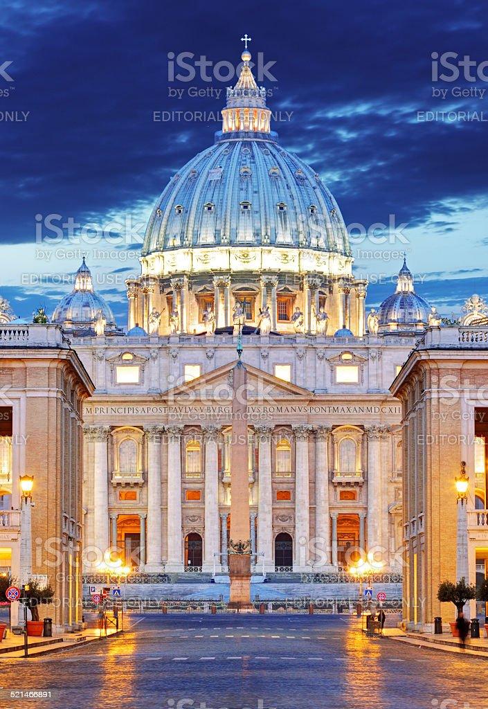 Saint Peter's Basilica in Rome - Vatican stock photo