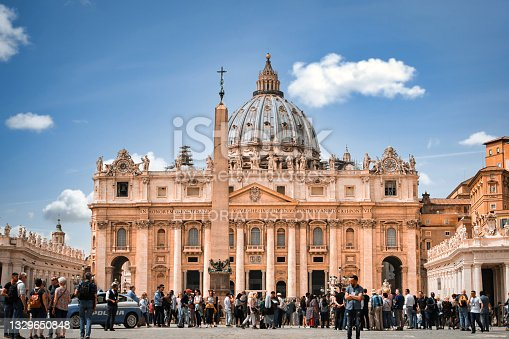 istock saint peter's basilica square in Vatican Rome. Travel and vacation in Italy. landmarks of rome 1329650848