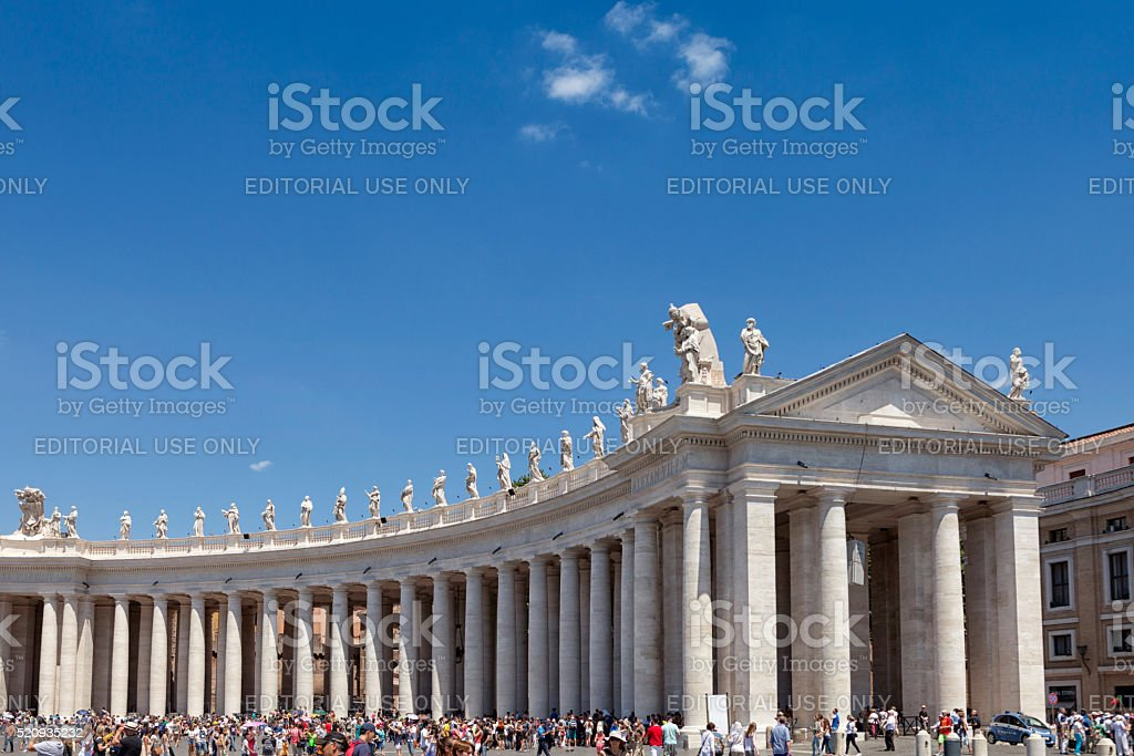 Saint Peters square stock photo