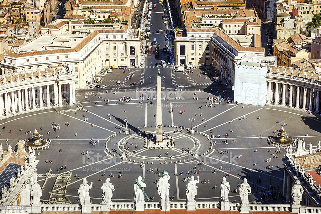Saint Peters Square, Rome stock photo