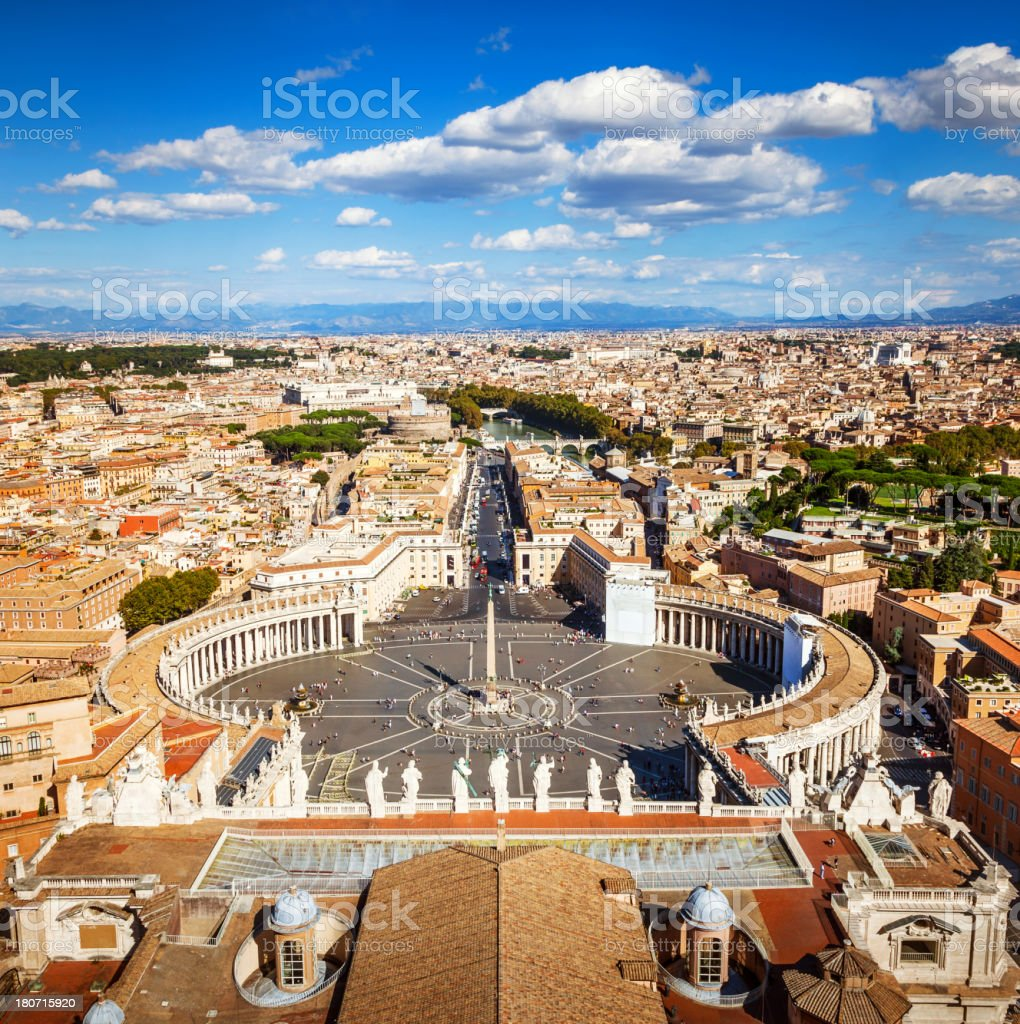 Saint Peters Square, Rome stock photo