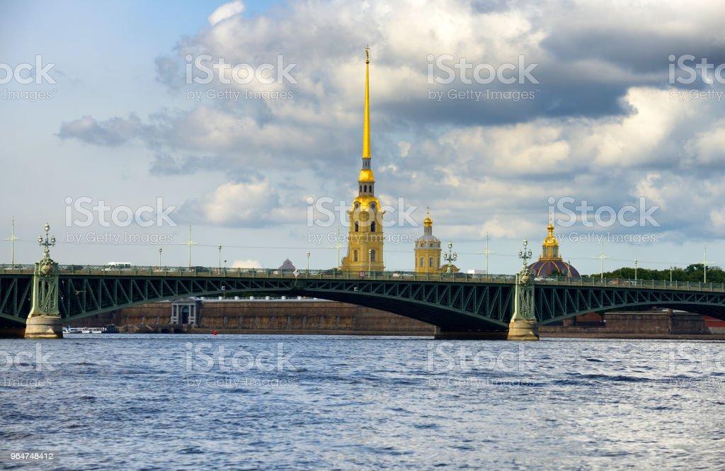 Saint Petersburg skyline from the sea royalty-free stock photo
