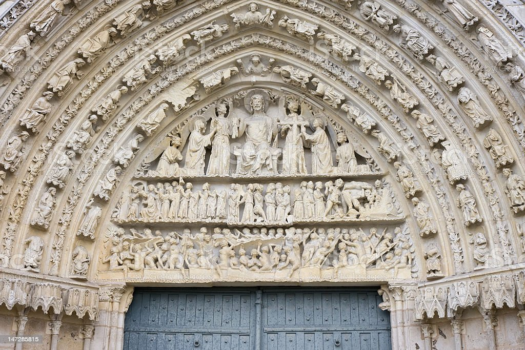 Saint Pierre Cathedral, Poitiers, France stock photo