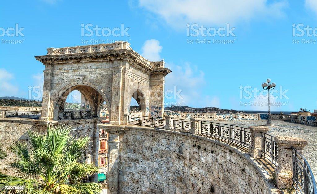 Saint Remy bastion under a blue sky stock photo