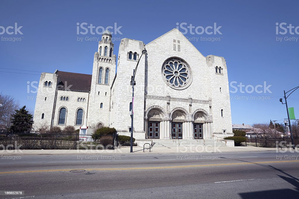 Saint Rita Church in Chicago Lawn royalty-free stock photo