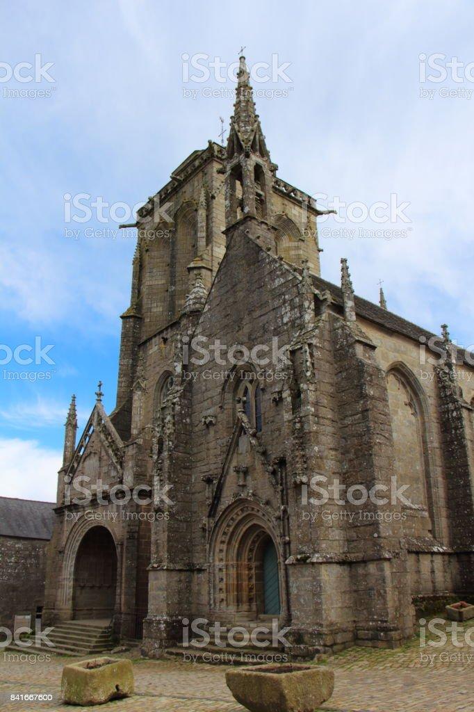 Saint Ronan church in Locronan stock photo