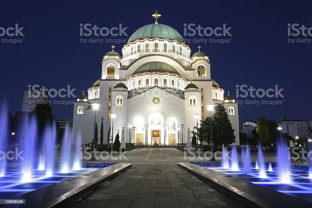 Saint Sava Cathedral, Belgrade stock photo