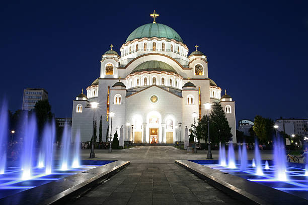 saint sava cathedral, belgrade - serbia stock photos and pictures