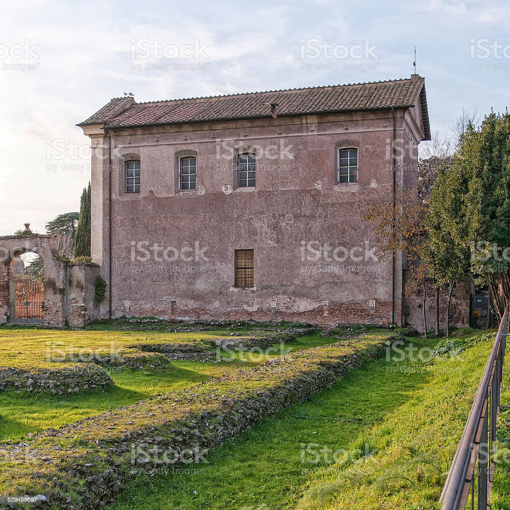 Saint Sebastian church stock photo