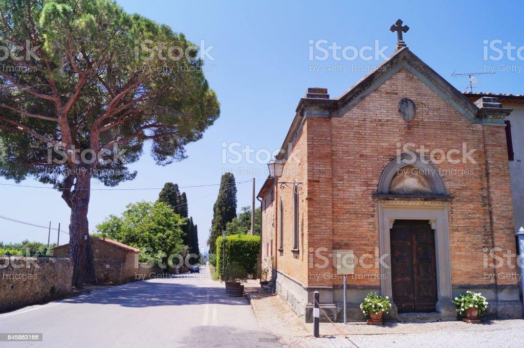 Saint Sebastiano church at Bolgheri - foto stock