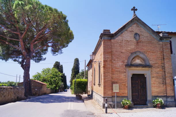 Saint Sebastiano church at Bolgheri - foto stock