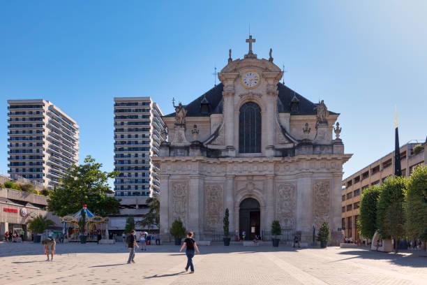 Saint Sebastien Church of Nancy stock photo