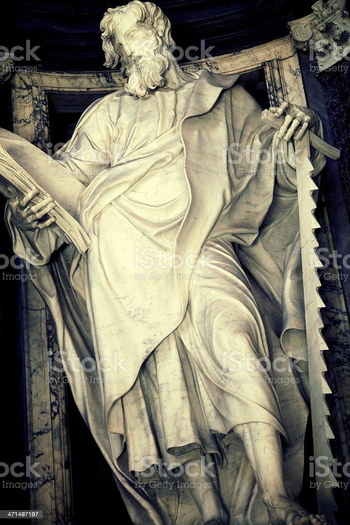 Saint Simon Apostle royalty-free stock photo