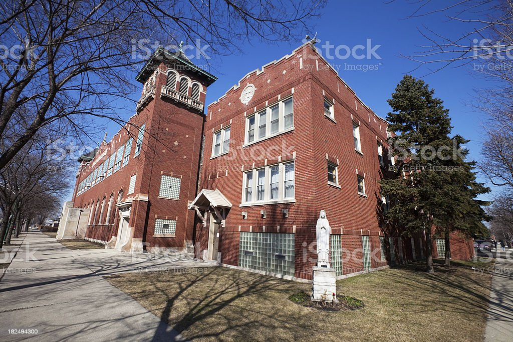 Saint Simons Church in Gage Park, Chicago royalty-free stock photo