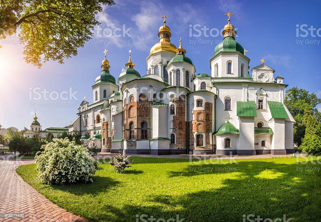 Saint Sophia Cathedral in Kiev stock photo