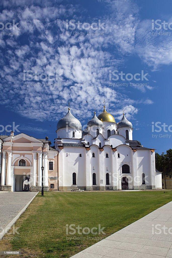 Saint Sophia cathedral in Kremlin, Great Novgorod, Russia.. royalty-free stock photo
