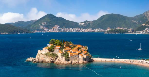 Saint Stefan Island. A popular attraction of Montenegro