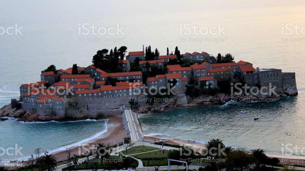 Saint Stephan Island, Montenegro stock photo