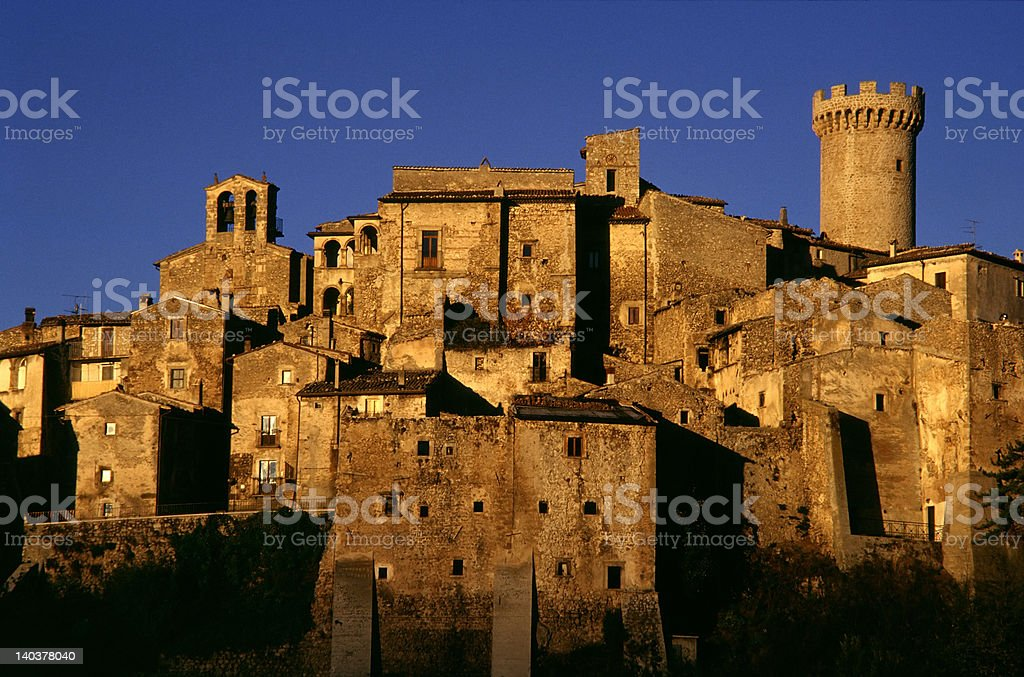 santo stefano di sessanio royalty-free stock photo