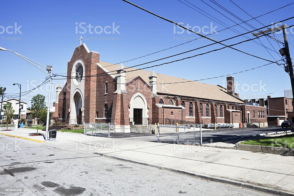 Saint Symphorosa Church in Clearing, Chicago royalty-free stock photo