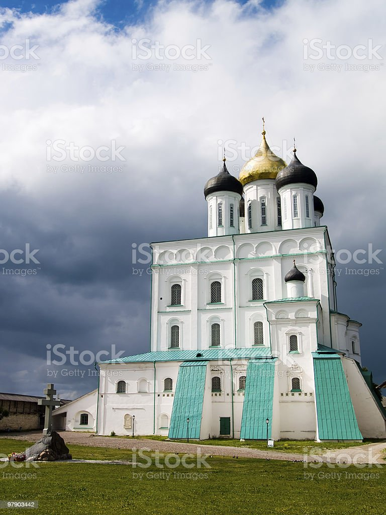 Saint Trinity Cathedral before a storm royalty-free stock photo