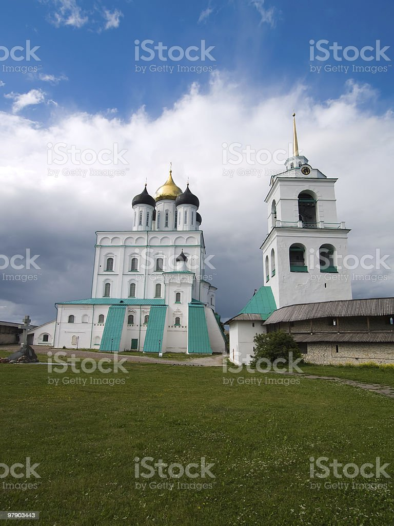 Saint Trinity Cathedral in Kremlin royalty-free stock photo