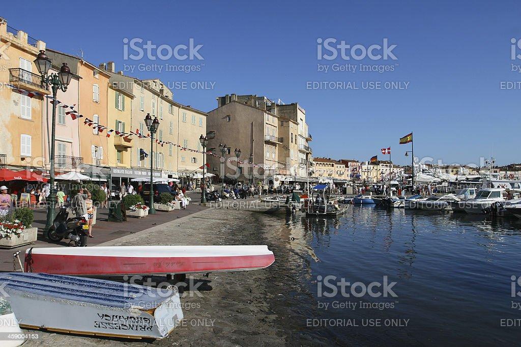 Saint Tropez city beach - foto de acervo