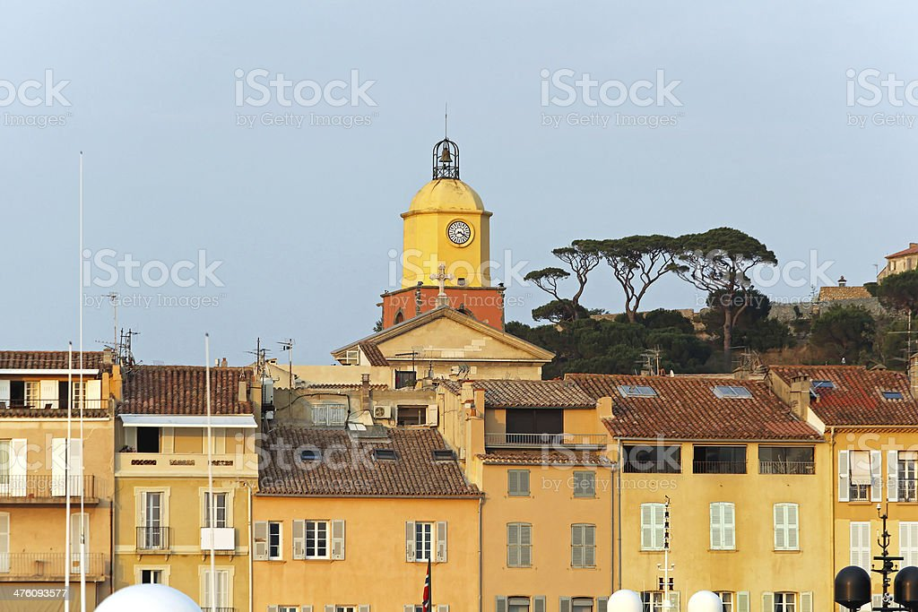 Saint Tropez clock tower royalty-free stock photo
