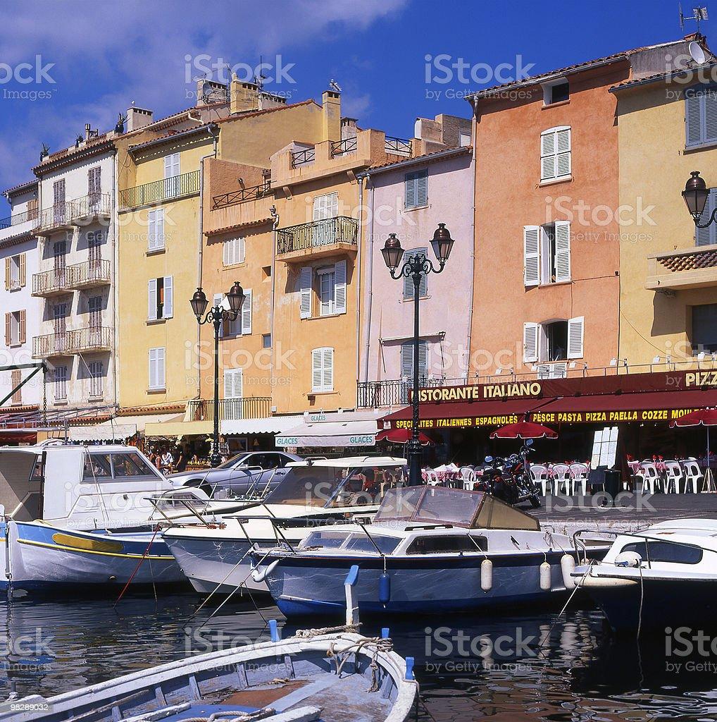 Porto di Saint-Tropez. La Francia foto stock royalty-free