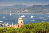 View of the city of Saint-Tropez, Provence, Cote d'Azu