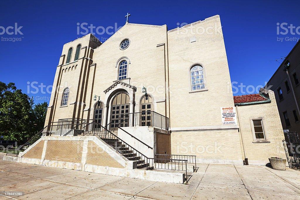 Saint Turibius Church in West Elsdon, Chicago royalty-free stock photo
