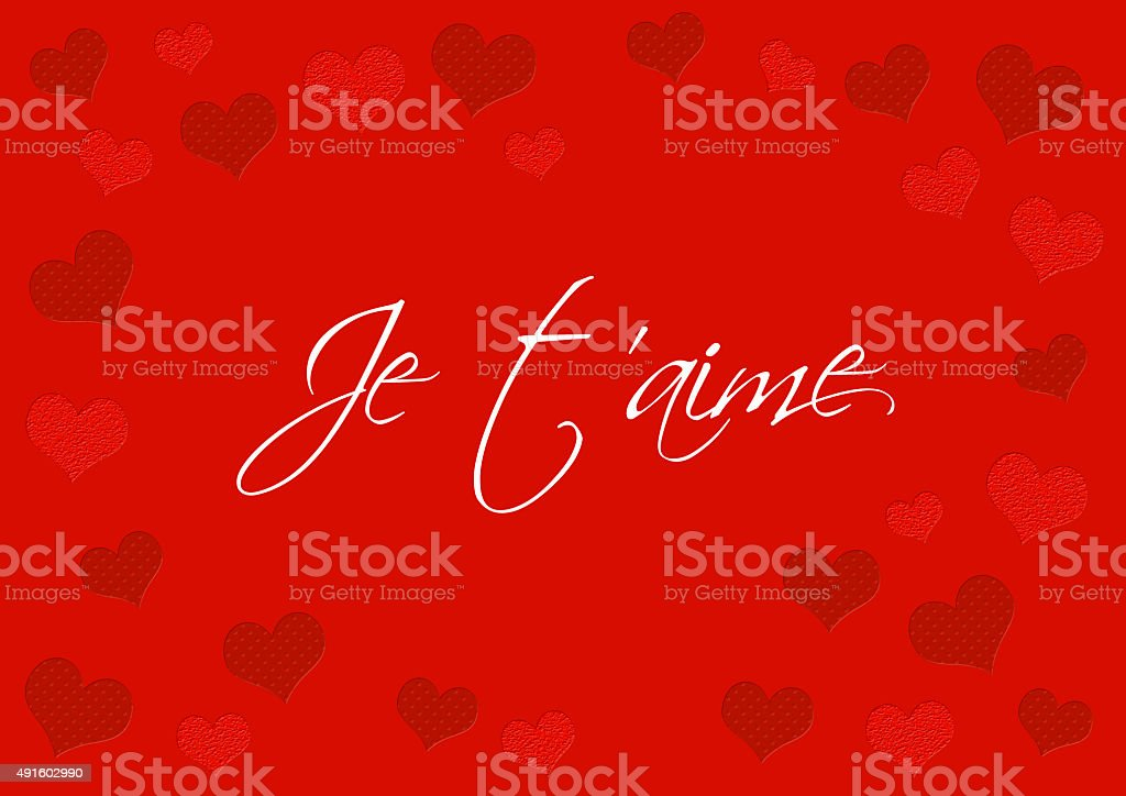 San Valentín Mensaje Coeurs Texte Amour Carta Foto De Stock