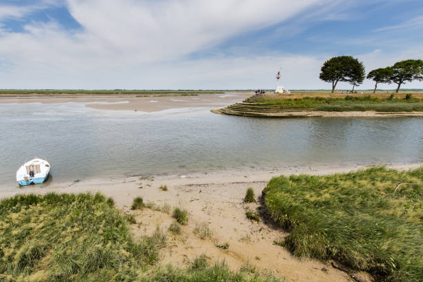 Saint Valery sur Somme small village of the Bay of Somme somme stock pictures, royalty-free photos & images