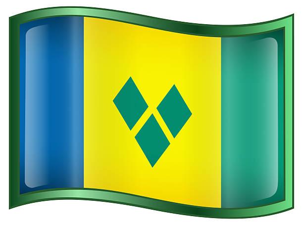 saint vincent und grenadines flag icon - kingstown stock-fotos und bilder