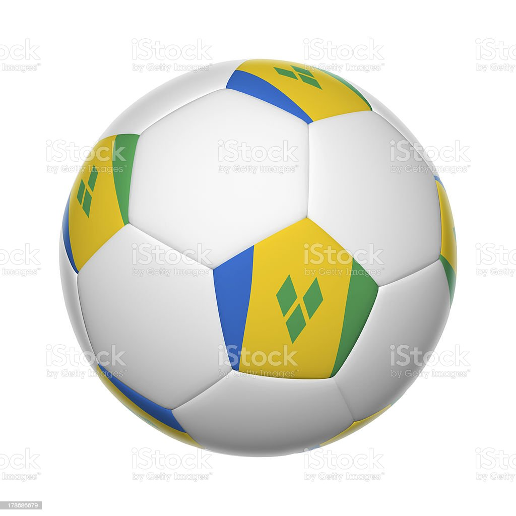 Saint Vincent And The Grenadines soccer ball stock photo