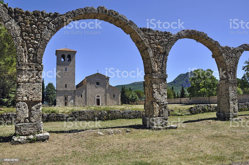 san vincenzo al volturno stock photo