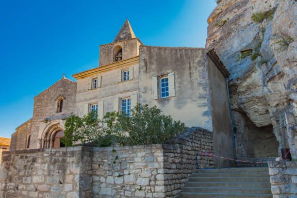 Saint Vincent des Baux in Les Baux-de-Provence Church, France stock photo