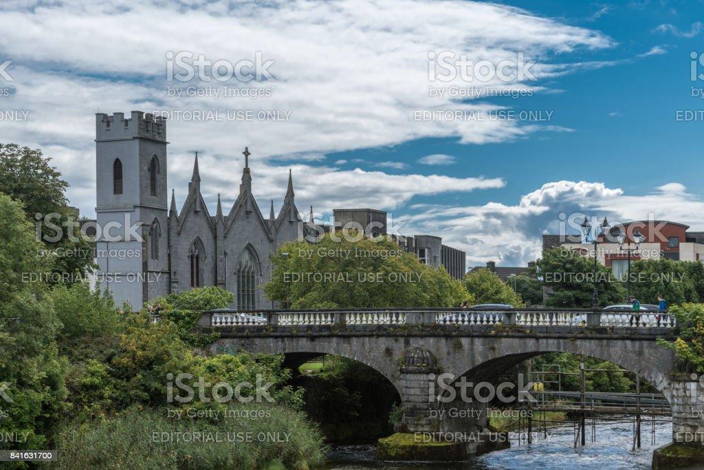 Saint Vincents Convent of Mercy with bridge, Galway Ireland. stock photo