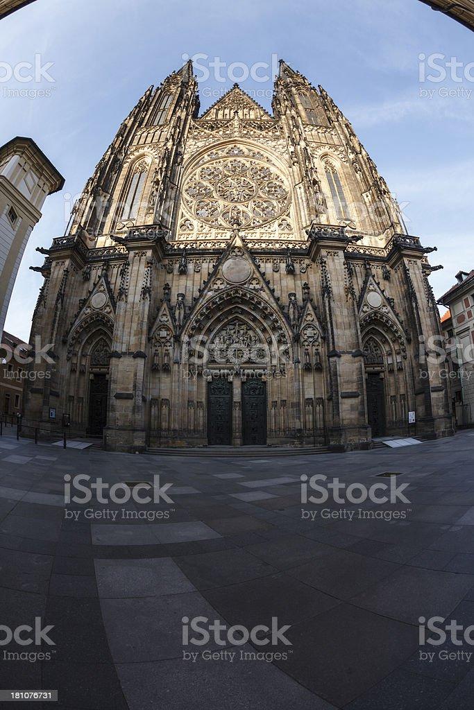 Saint Vitus cathedral, Prague royalty-free stock photo