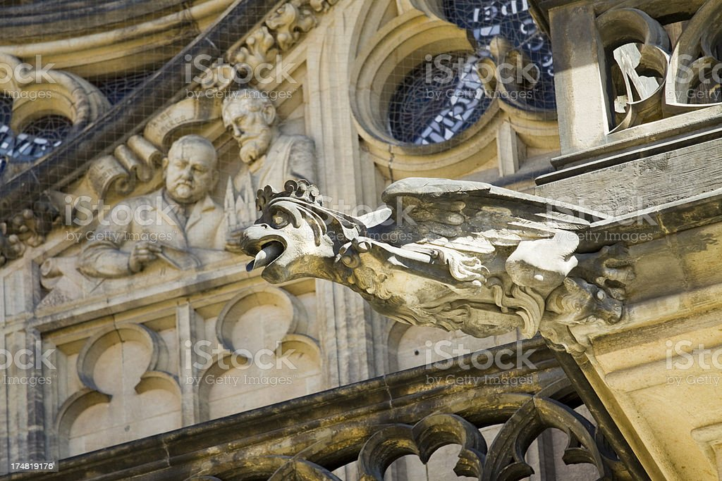 Saint Vitus Gargoyle royalty-free stock photo